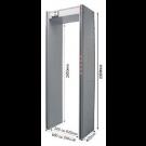 Detector de Metais Mettus HS - 3 / 6 / 11 Zonas – Modelo Portal