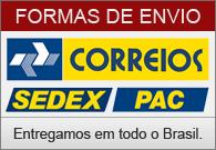 Correios: SEDEX e PAC - Entregamos em todo o Brasil.
