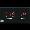 Painéis de Senhas com 3 Dígitos e Indicador de Local - OP52