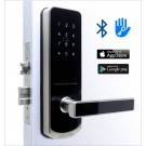 Fechadura Eletrônica Inox 345 Bluetooth, APP, Senha e Cartão RFID