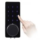 Fechadura Eletrônica Ébano E200 – Senha, Cartão e Chave (Porta Pivotante com Puxador)