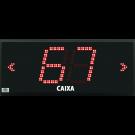 Painéis de Fila Única com 2 Dígitos e Setas Indicativas de Direção - PF28
