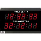 """Relógio Digital e Cronômetro (Progressivo / Regressivo) - HMS 4"""" – 6 dígitos - 60 metros Visão"""
